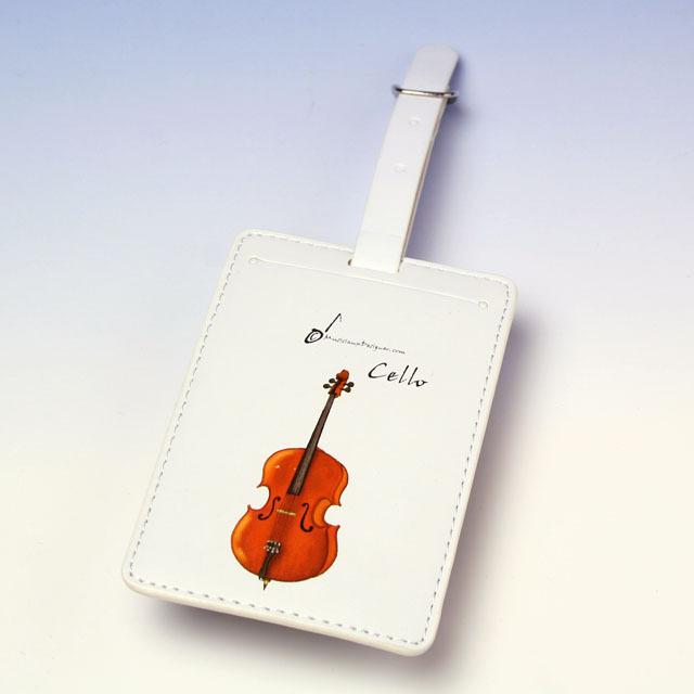 チェロ cello ネームタグ 名札 音楽雑貨 音楽グッズ 音楽小物