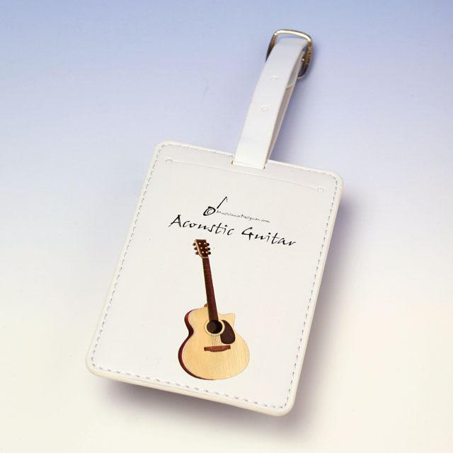 フォークギター fork guitar ネームタグ 名札 音楽雑貨 音楽グッズ 音楽小物