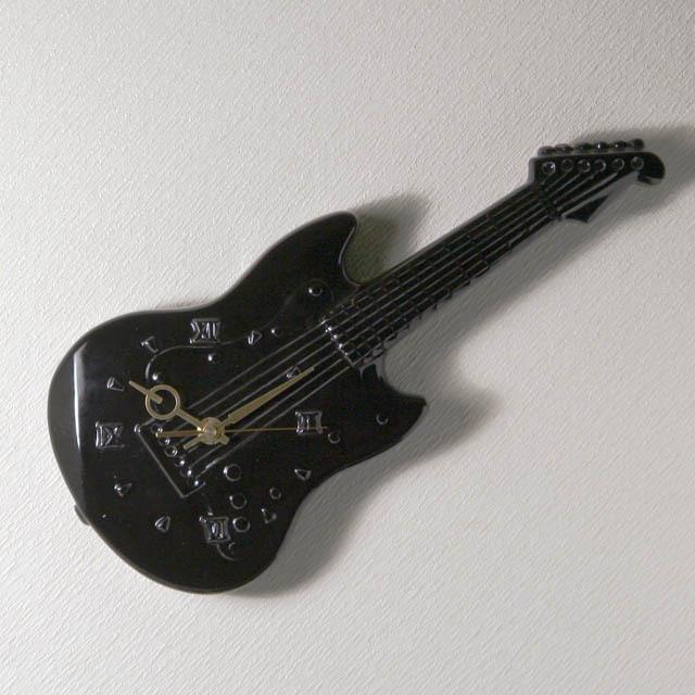 エレキギター 掛け時計 音楽雑貨 音楽グッズ 音楽ギフト