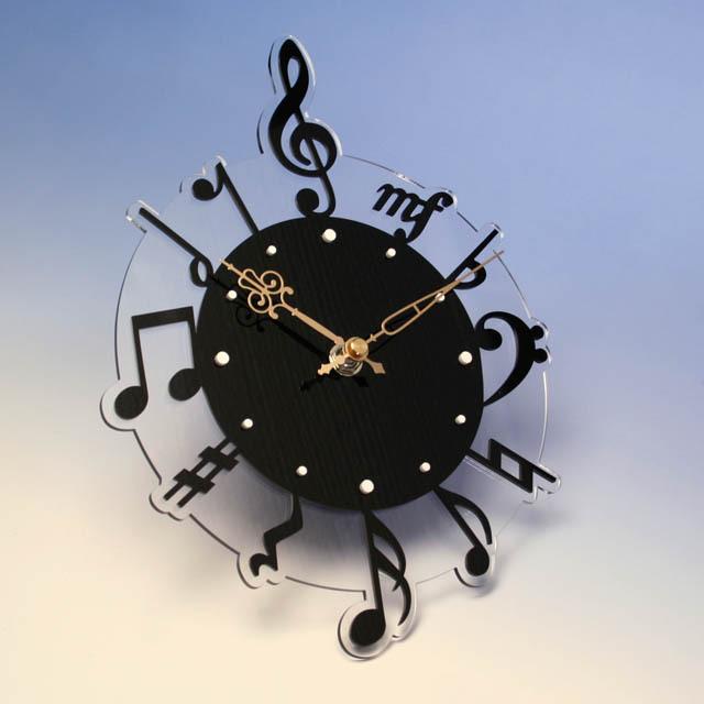 音楽掛け時計 音符 ト音記号 音楽雑貨 音楽ギフト 音楽グッズ
