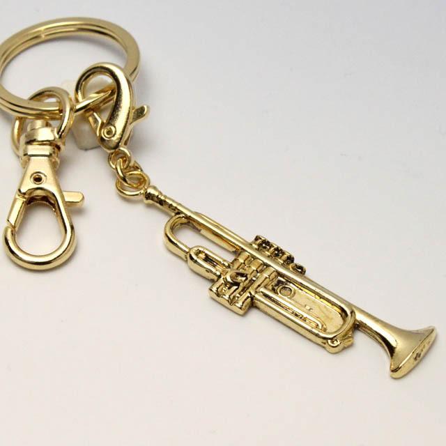 トランペット Trumpet キーホルダー 音楽グッズ 音楽雑貨