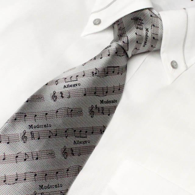 西陣織 ネクタイ 音楽雑貨 音楽ギフト 楽譜