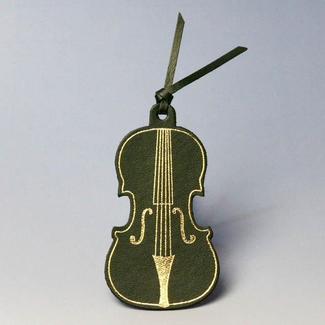 本革 栞 ブックマーク ヴァイオリン 音楽雑貨 音楽グッズ