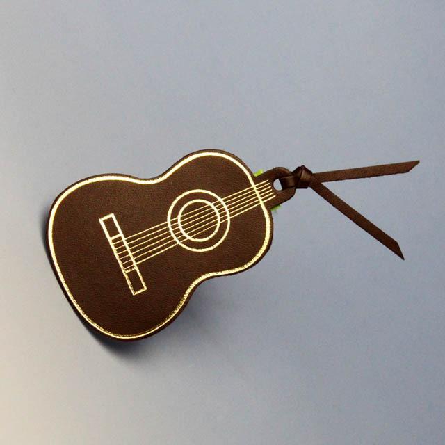 本革 栞 ブックマーク ギター 音楽雑貨 音楽グッズ