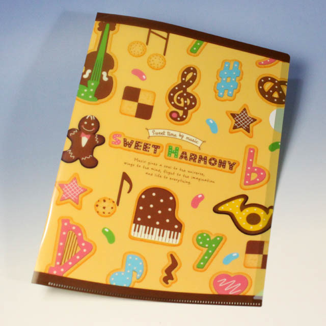 Sweet Harmony 音符 クリアファイル 音楽雑貨