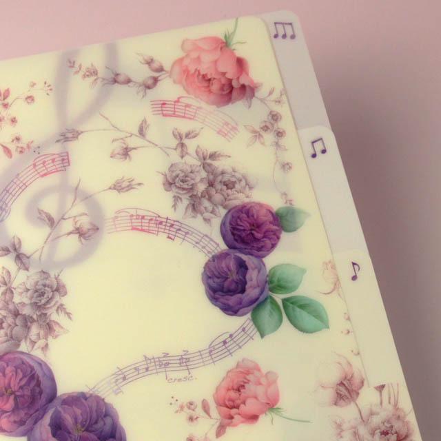 クリアファイル クリアフォルダ 音楽雑貨 音符 楽譜