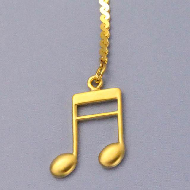 2連16分音符 チェーンブックマーク 音楽グッズ 音楽雑貨