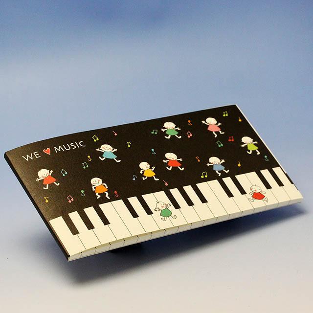 Quu ピアノ 一筆箋 音楽雑貨 音楽グッズ