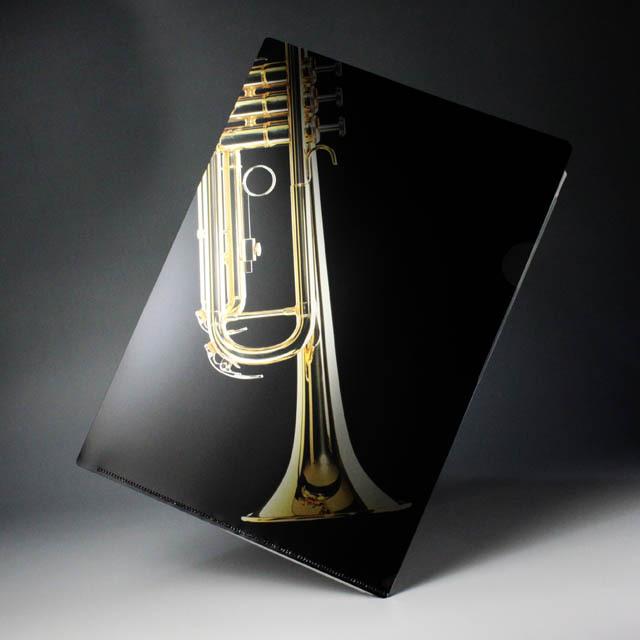 クリアファイル クリアフォルダ 音楽雑貨 トランペット
