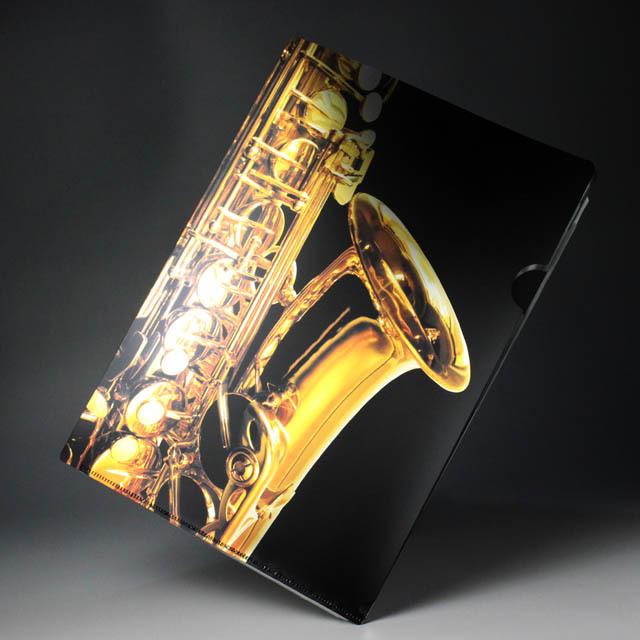 クリアファイル クリアフォルダ 音楽雑貨 音符 アルトサックス