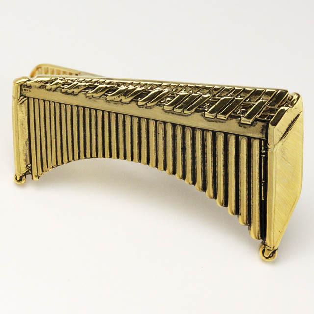 マリンバ Marimba タイピン タイバー 楽器グッズ 音楽雑貨