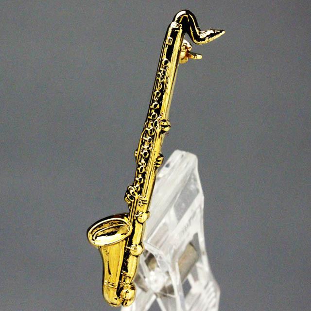 バスクラリネット Bass Clarinet ブローチ 楽器グッズ 音楽雑貨
