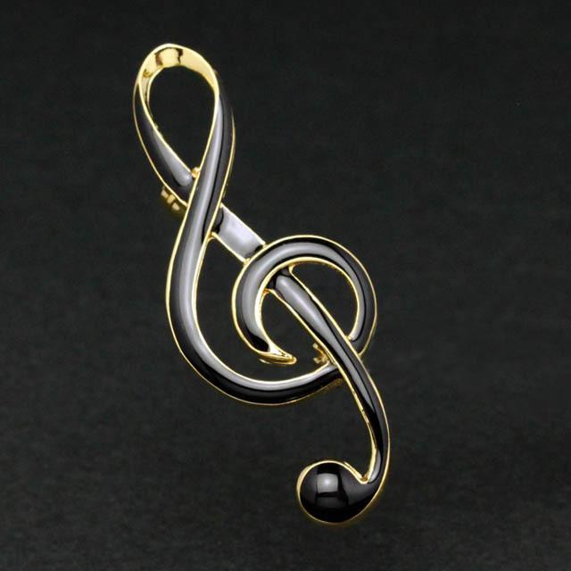 エナメルブローチ ト音記号 音楽アクセサリー 音楽グッズ