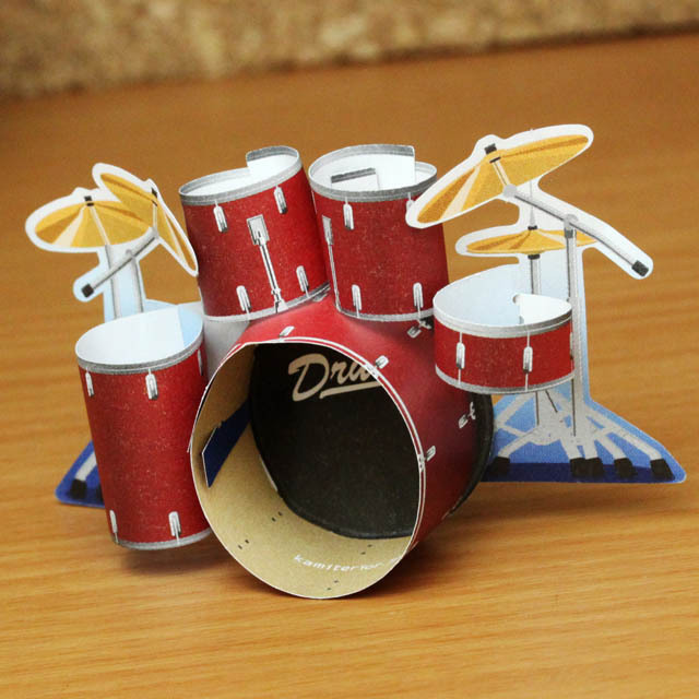 ku・ru・ru メッセージメモ ドラムセット 音楽雑貨