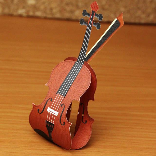 ku・ru・ru メッセージメモ ヴァイオリン 音楽雑貨