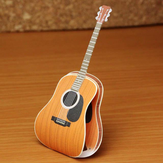 ku・ru・ru メッセージメモ フォークギター 音楽雑貨