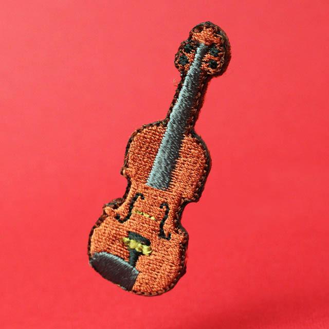 ワッペン 刺繍ステッカー ヴァイオリン 音楽グッズ 音楽雑貨