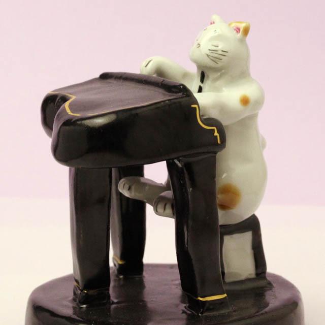九谷焼 猫JAZZ グランドピアノ 音楽雑貨 音楽グッズ