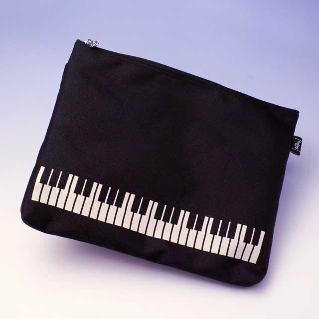 ポケットポーチ ピアノ鍵盤 音楽雑貨 発表会記念品