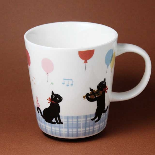 黒猫 音楽隊  トランペット ヴァイオリン 音楽グッズ 音楽雑貨