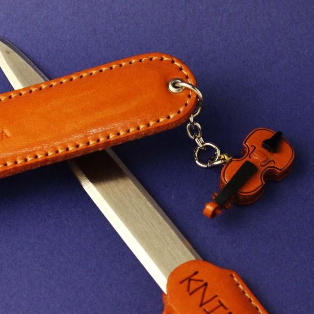 本革製 ペーパーナイフ ヴァイオリン 音楽グッズ 音楽雑貨