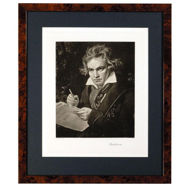 ベートーヴェン ドイツ 銅版画 額装 音楽ギフト