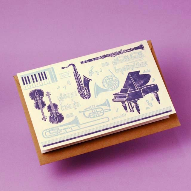 多目的カード 楽器 音楽雑貨