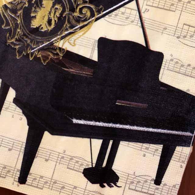 ペーパーナプキン 音楽雑貨 音楽グッズ グランドピアノ