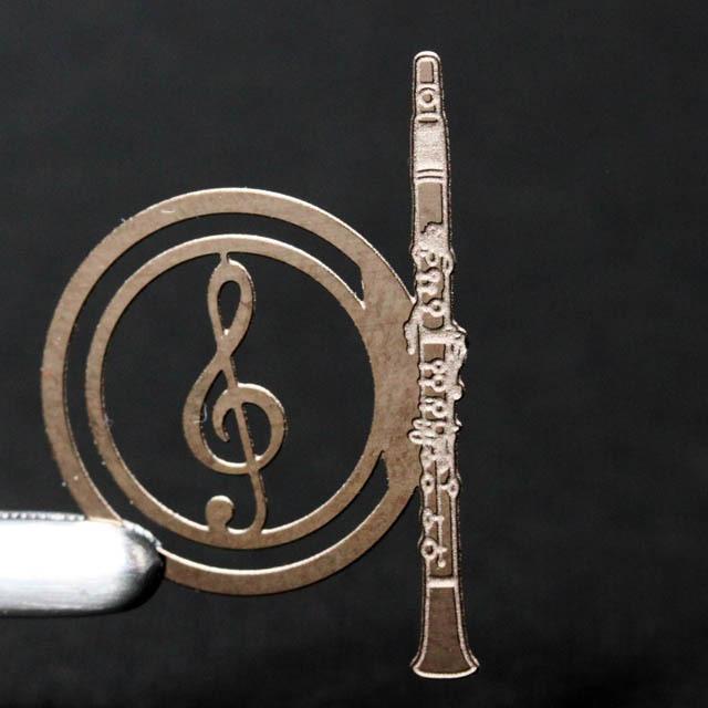 譜めくりマーカー 楽譜タブ 音楽雑貨 クラリネット