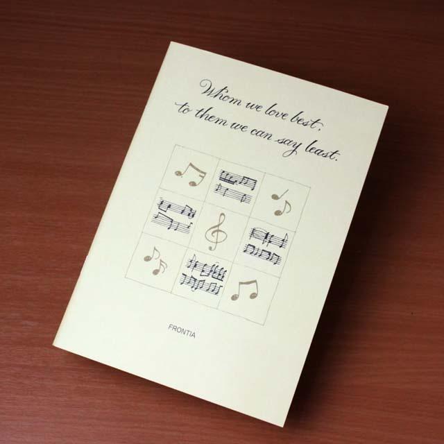ト音記号 9 Square A5版 罫線ノート 音楽雑貨