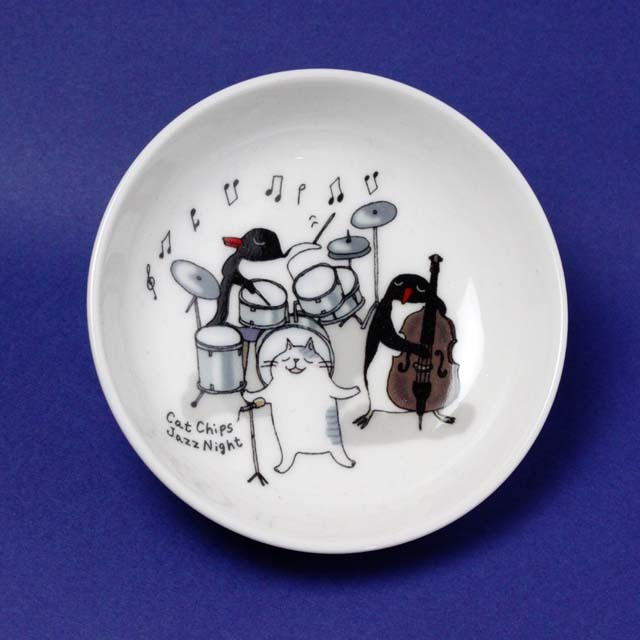 Cat Chips Jazz Night 小皿 音楽雑貨 音楽グッズ