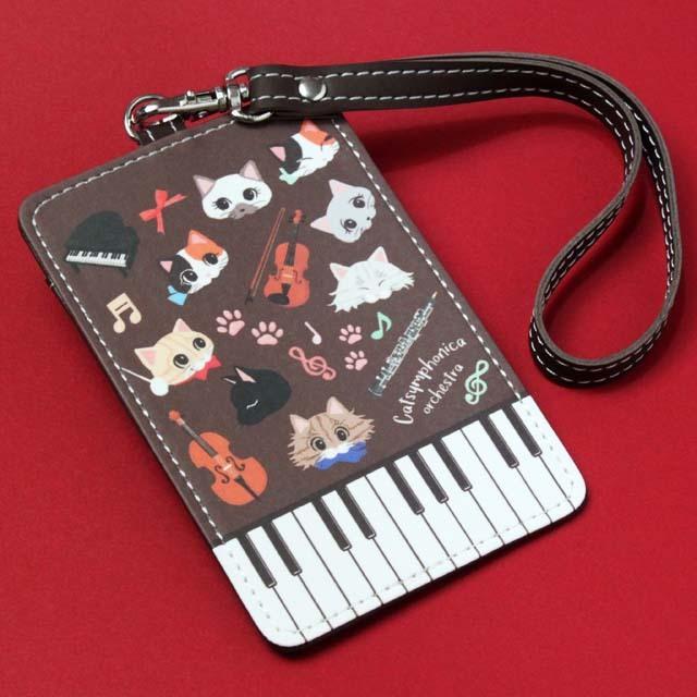 Cat Symphonica ピアノ ICパスケース 音楽雑貨