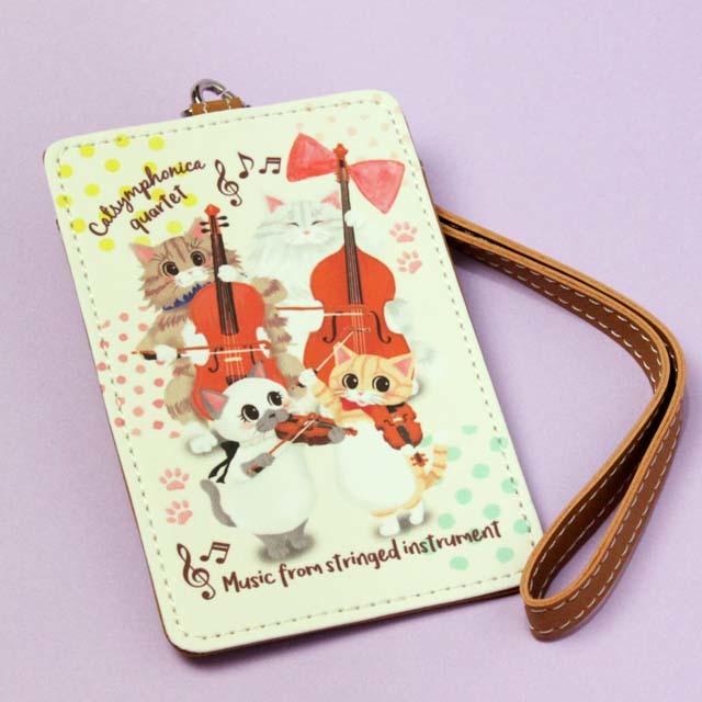 Cat Symphonica カルテット ICパスケース 音楽雑貨