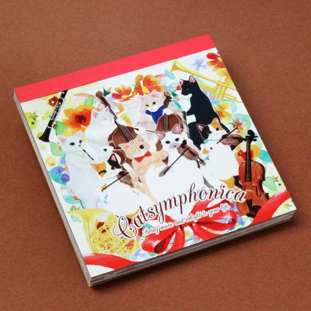 Cat Symphonica 合奏 メモパッド 音楽雑貨