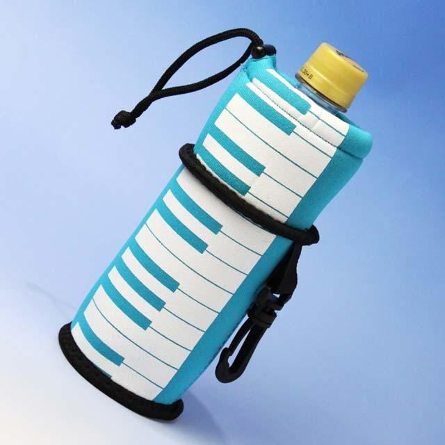 ウェットスーツ素材 ペットボトルカバー ピアノ鍵盤 音楽雑貨