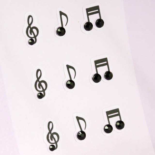 セミ3Dシール ト音記号 音符  音楽雑貨 音楽グッズ