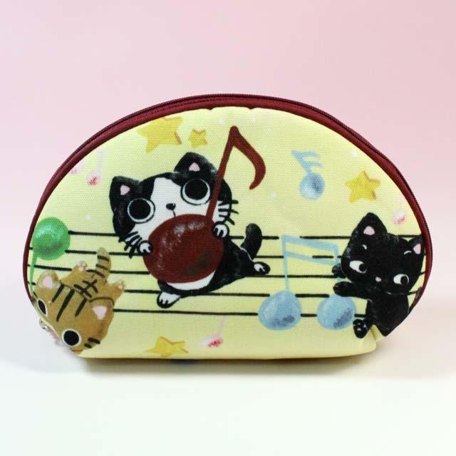 Yamaneko 音符 音楽雑貨 音楽柄 ポーチ