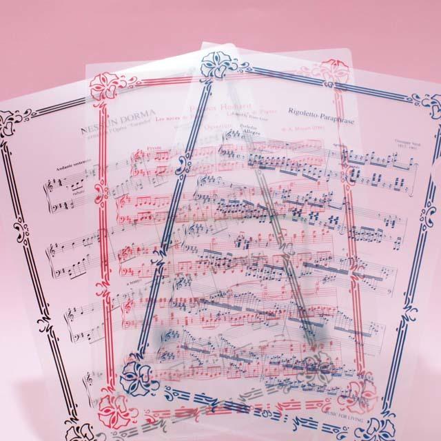 クリアファイル クリアフォルダ オペラ 音楽雑貨