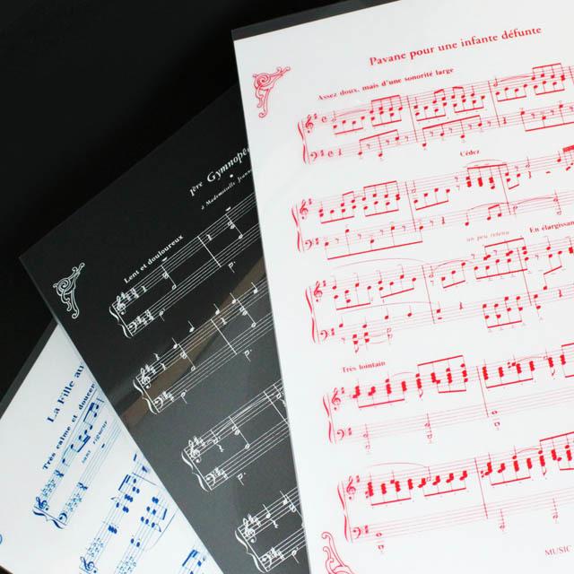 クリアファイル クリアフォルダ ドビュッシー サティ ラヴェル 音楽雑貨