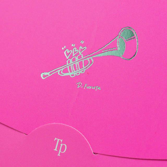 楽譜あぶらとり紙 クリーニングペーパー トランペット 音楽雑貨
