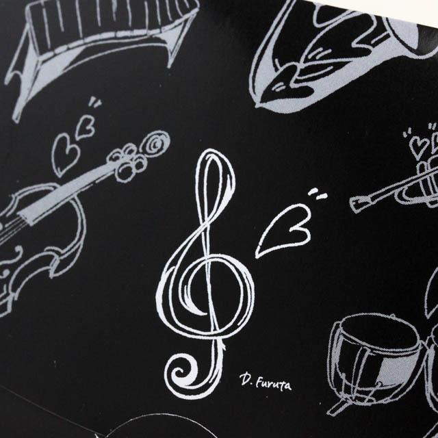 楽譜あぶらとり紙 クリーニングペーパー ト音記号 音楽雑貨