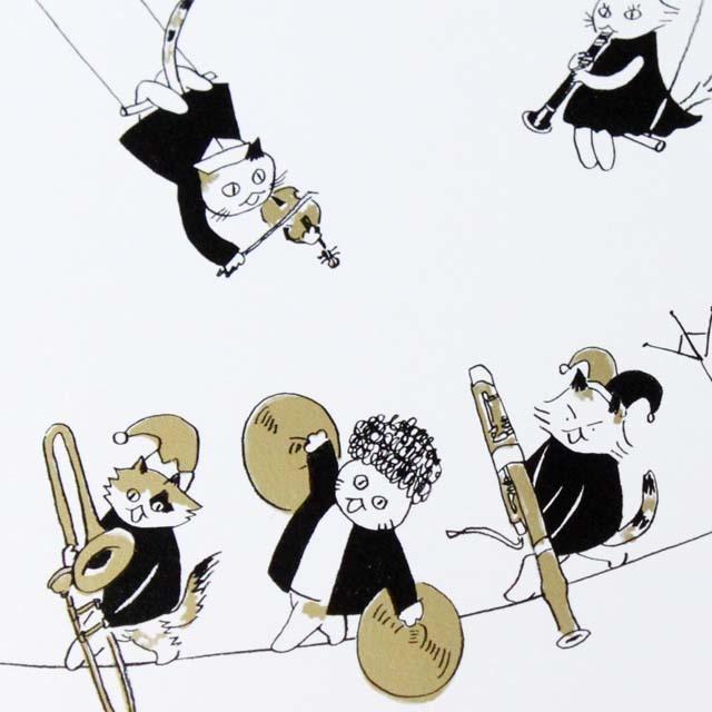 Musical Circus 6 ポストカード 綱渡り 音楽雑貨 音楽グッズ