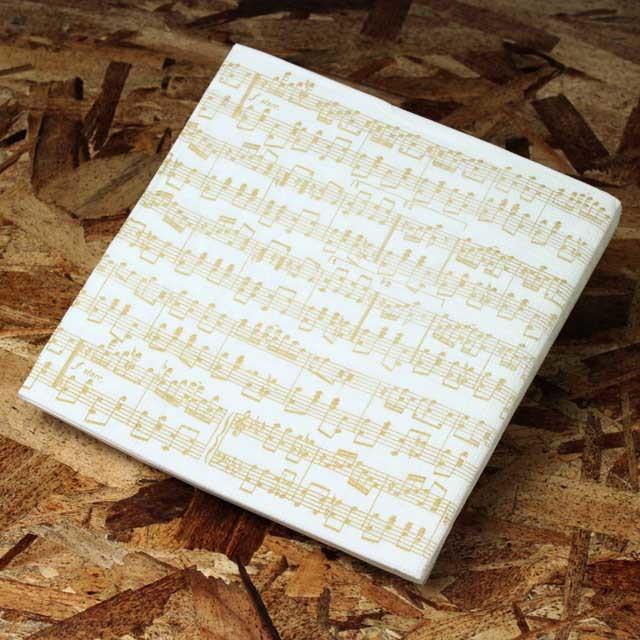 ペーパーナプキン 楽譜 大譜表 音楽雑貨