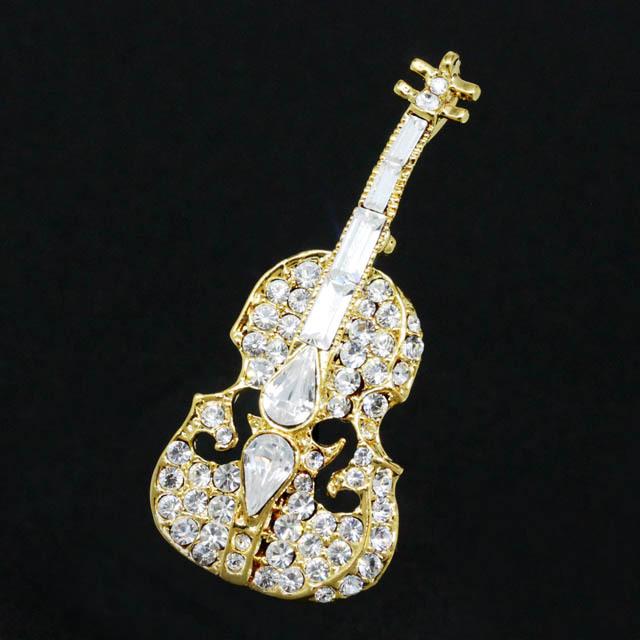グランデスピッラ ブローチ ヴァイオリン 音楽雑貨 音楽アクセサリー