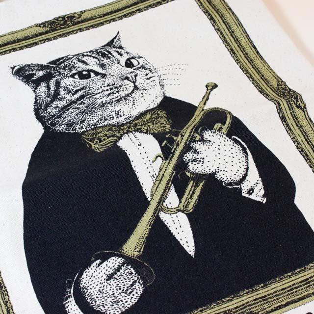 トランペット 厚手コットンキャンバス トート 音楽雑貨