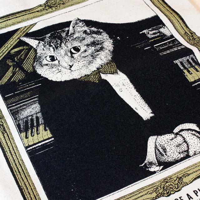 ピアノ 厚手コットンキャンバス トート 音楽雑貨