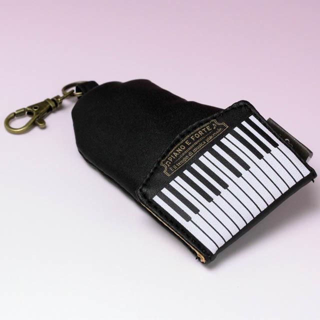 グランドピアノ キーケース リール式 音楽雑貨
