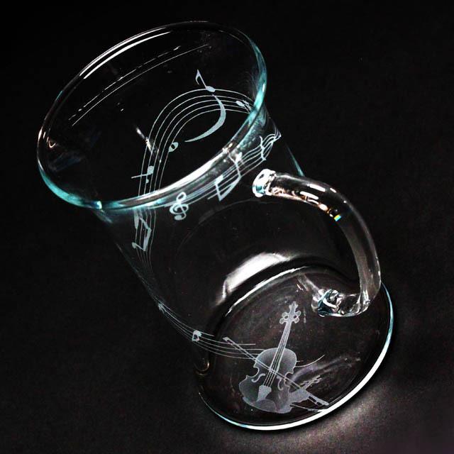 耐熱ガラス マグカップ 弦楽器 ヴァイオリン 音楽雑貨 音楽ギフト