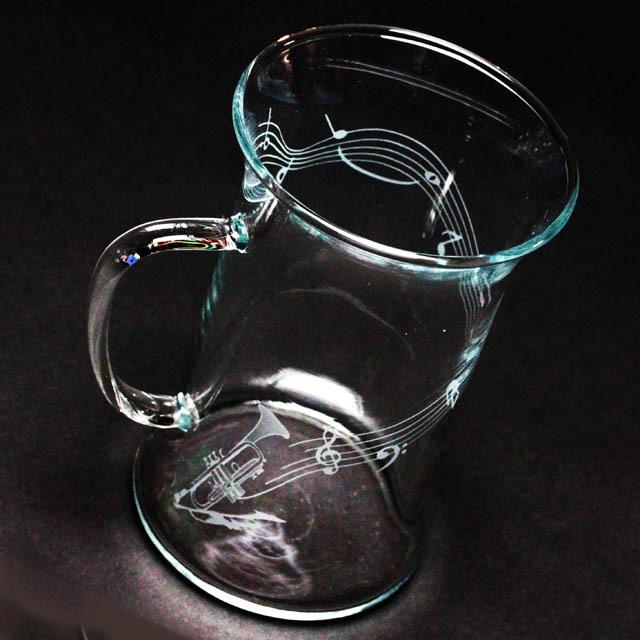 耐熱ガラス マグカップ トランペット 音楽雑貨 音楽ギフト