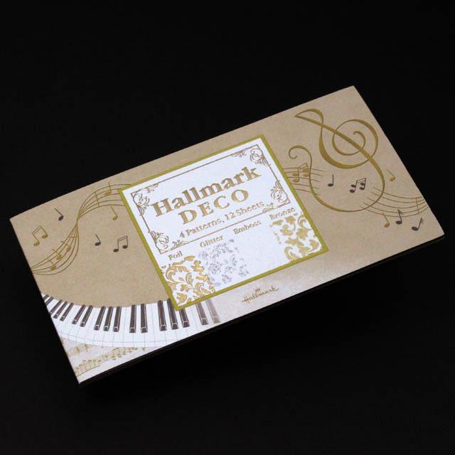 DECO ト音記号 鍵盤 楽譜 音楽雑貨 一筆箋